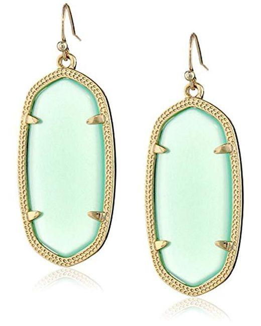 Kendra Scott - Metallic Danielle Earrings (rhodium/abalone Shell) Earring - Lyst