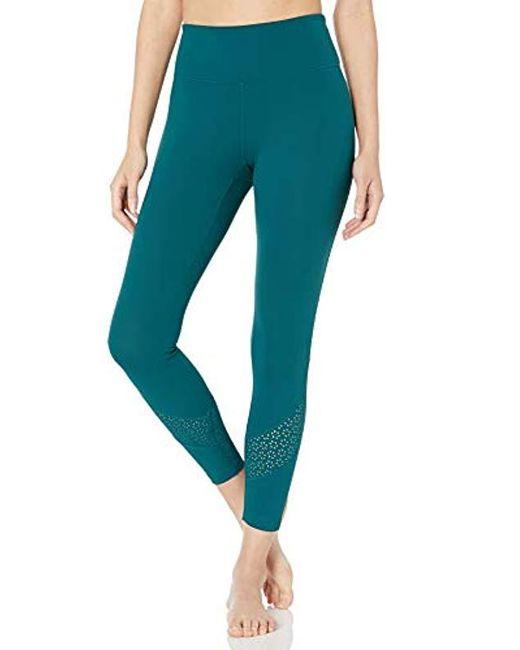 Core 10 Blue (xs-3x) Icon Series Laser Cut Eyelet Mesh High-waist Yoga Legging