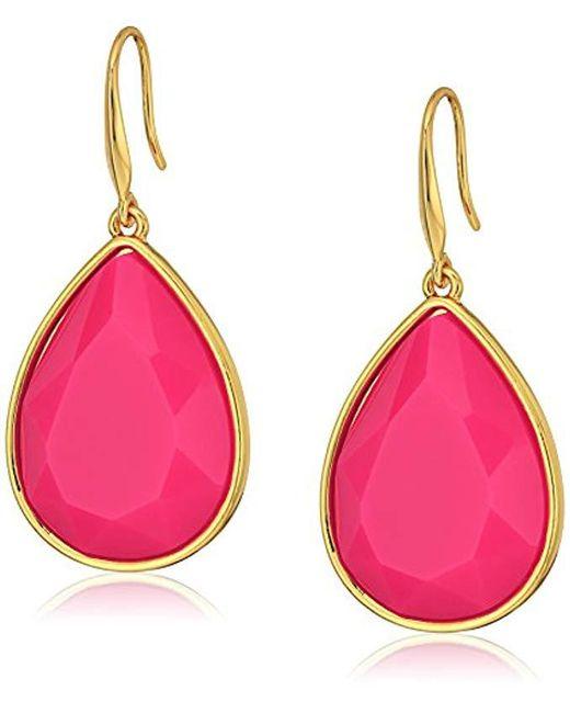 """Trina Turk - Pink """"core Ii"""" Teardrop Earrings - Lyst"""