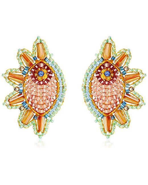 Miguel Ases - Multicolor Swarovski Cone Cuff Drop Earrings - Lyst