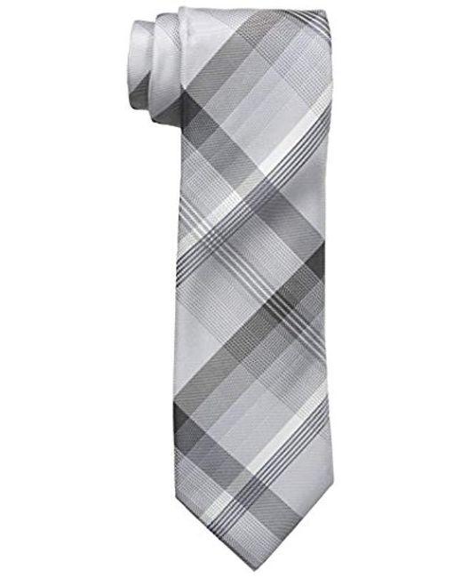 Geoffrey Beene - Gray Plaid Instinct Tie for Men - Lyst