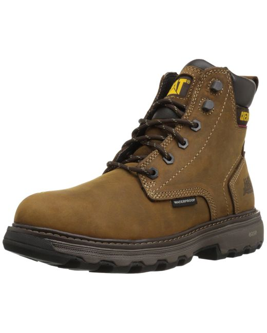 Caterpillar Brown Precision Waterproof Work Boot for men