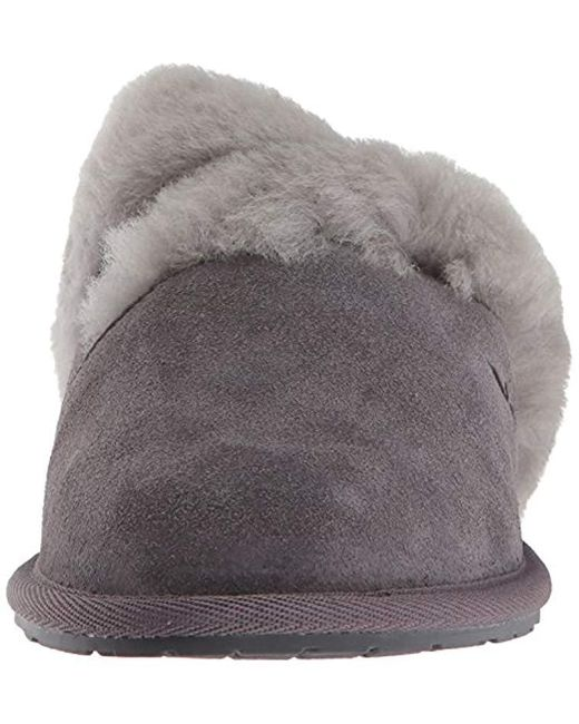 c967ea2a2b9 Women's Gray Koolaburra By Milo Scuff Slipper, Rabbit, 8 M Us
