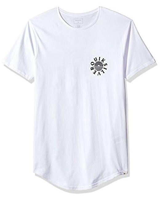 Quiksilver - White Short Sleeve Scallop East Rising Dog Tee for Men - Lyst