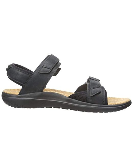 0a48a5a0b ... Teva - Black Terra-float Universal Lux Leather Sandal for Men - Lyst ...