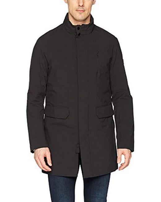 J.Lindeberg Black Waterproof Stretch Coat for men