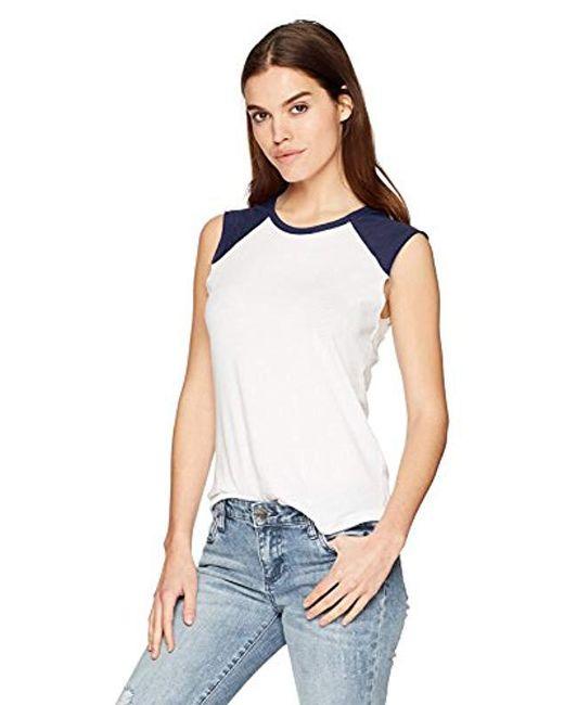 Alternative Apparel - Vintage Jersey Team Player Tee (white/black) Women's T Shirt - Lyst