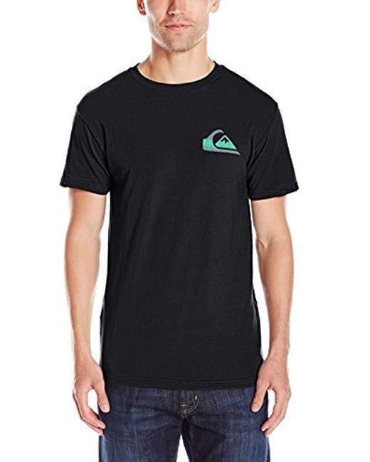 Quiksilver - Black Neon T-shirt for Men - Lyst