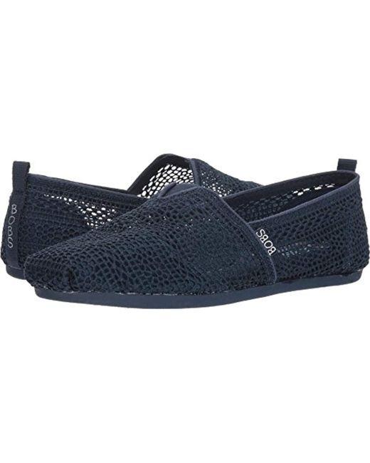 Skechers - Blue Bobs Bobs Plush-daisy Crochet Ballet Flat - Lyst