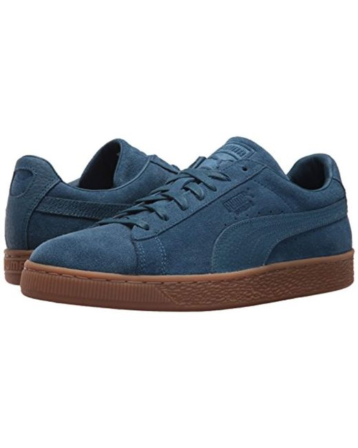 the best attitude d6ea4 033e0 Suede Classic Natural Warmth Sailor Blue Sailor Blue Mens Lace Up Sneakers