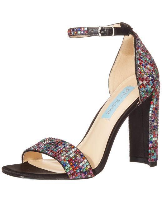Betsey Johnson Blue Sb-andi Heeled Sandal - Save 10% - Lyst