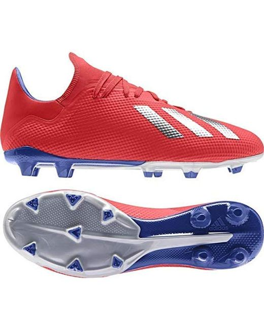 brand new d56bc 506fa Men's Red X 18.3 Firm Ground Cleats