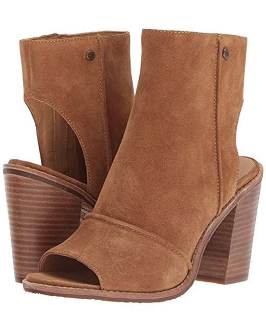 cf59c644e35 Women's Brown W Valencia Peep Toe Heeled Sandal