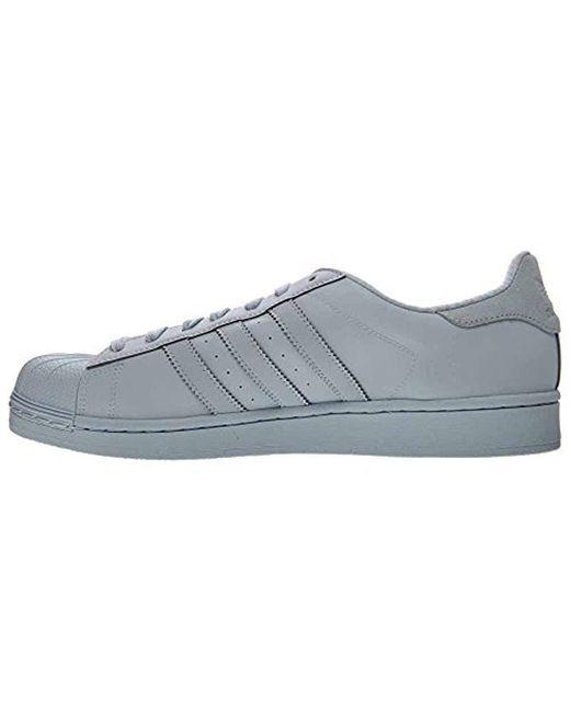more photos aa7f1 e72dc ... Adidas Originals - Blue Adidas Superstar Adicolor Fashion Sneaker for  Men - Lyst ...
