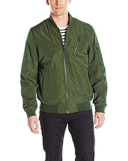 Buffalo David Bitton - Green Buffalo By David Bitton Poly Bomber Jacket for Men - Lyst
