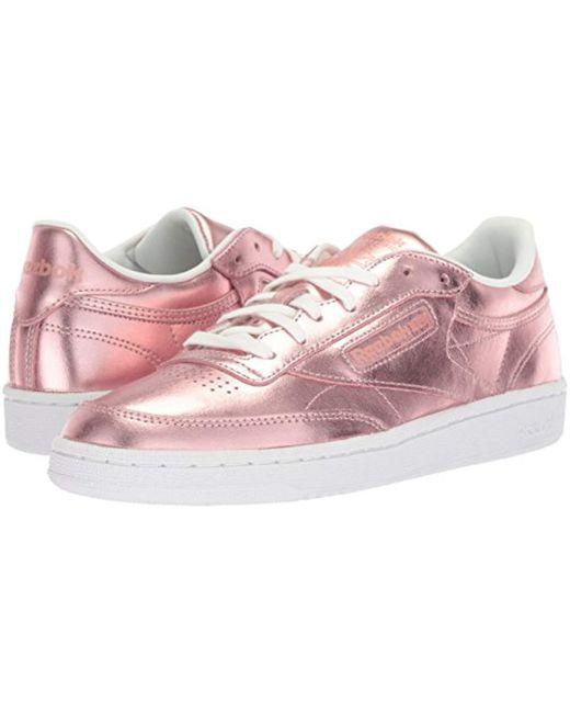 78504896ffd ... Reebok - Pink Club C 85 S Shine Sneaker - Lyst ...