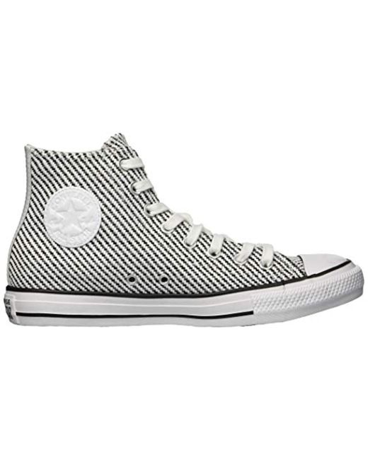 8f2be2c556a49 Women's Chuck Taylor All Star Woven High Top Sneaker, White/black/mason, 11  M Us