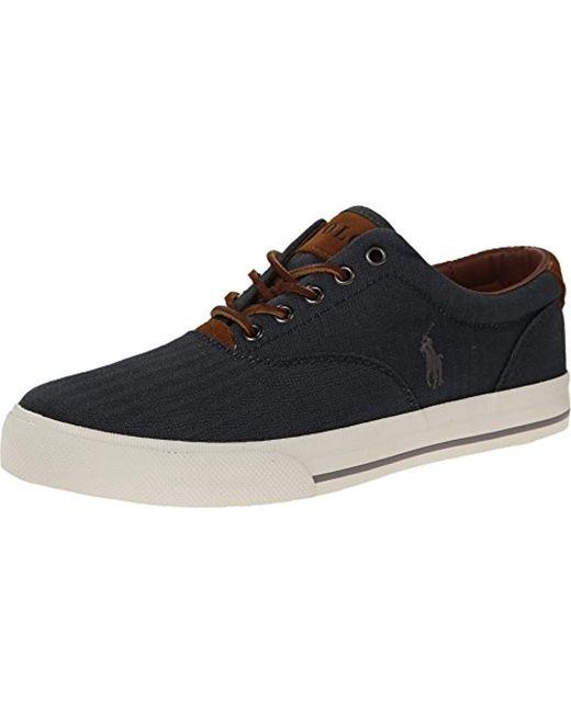Polo Ralph Lauren - Black Vaughn Fashion Sneaker for Men - Lyst
