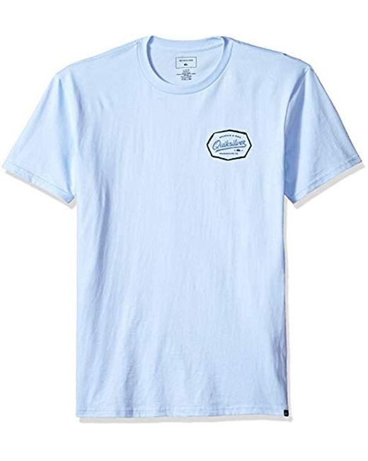 Quiksilver - Blue Live On The Edge Tee Shirt for Men - Lyst