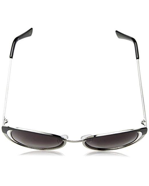 f75225594e6 ... Nanette Nanette Lepore - Metallic Nanette By Nanette Lepore Nn188 Oxslv  Cateye Sunglasses Black silver