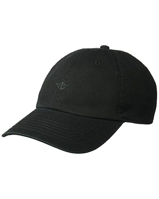Dockers Black Classic Baseball Dad Hat With Logo for men