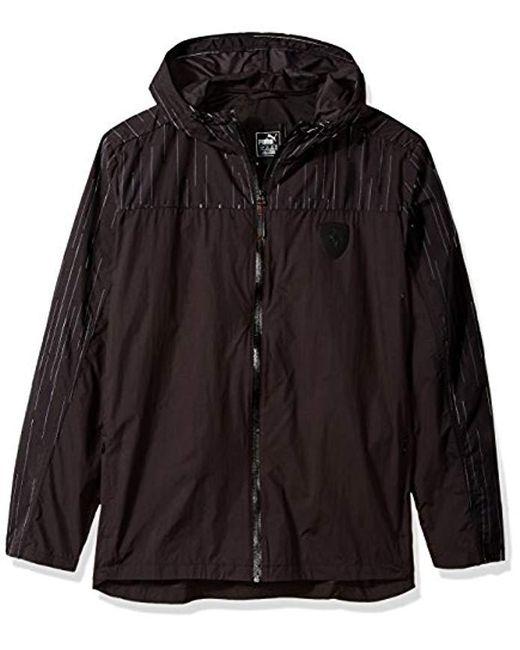 Men\u0027s Black Ferrari Nightcat Jacket