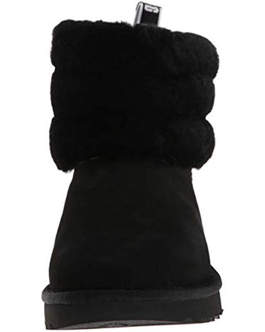 81d6e4375ad Women's Black Fluff Mini Quilted Logo Boot