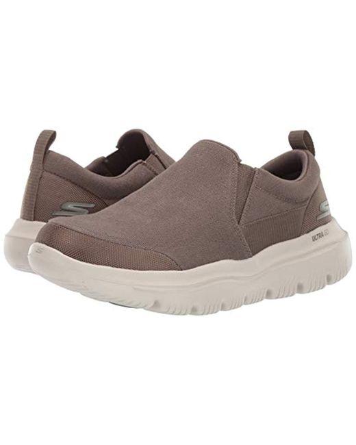 b20e361964b72 Men's Brown Go Walk Evolution Ultra-54736 Sneaker