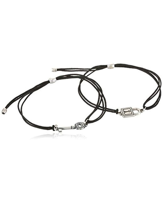 ALEX AND ANI - Metallic S Kindred Cord Set, Perfect Fit Key And Lock Bracelet - Lyst