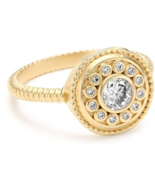 """Freida Rothman - Metallic """"hamptons"""" Collection Gold-plated Solitaire Nautical Button Ring - Lyst"""