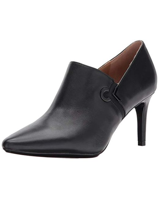 Calvin Klein - Black Joanie Leather Ankle Boot, - Lyst
