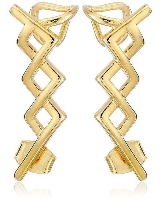Noir Jewelry Metallic Gold Greeley Ear Cuffs