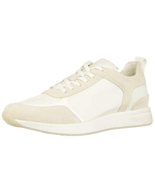 Calvin Klein Schnürschuh Casual Sneaker, in White für Herren