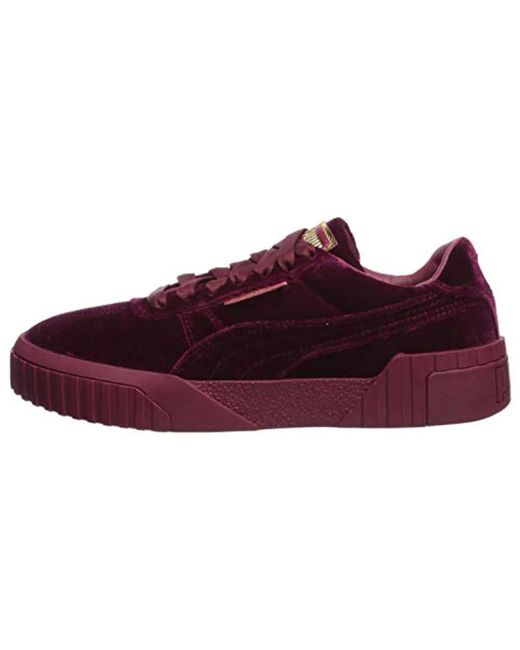 2575a79a6f9 Lyst - PUMA Cali Velvet (red) Women s Classic Shoes in Red - Save 1%