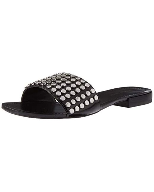 Kendall + Kylie Black Kelsy Slide Sandal