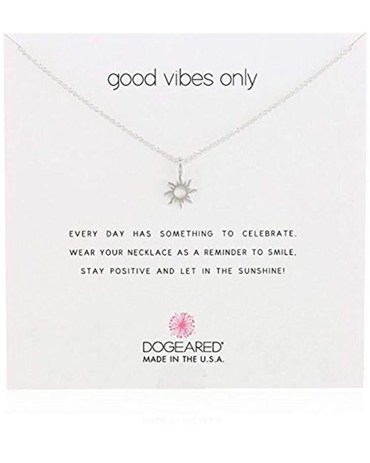 "Dogeared - Metallic Good Vibes Only Sun Pendant Necklace, 16"" - Lyst"