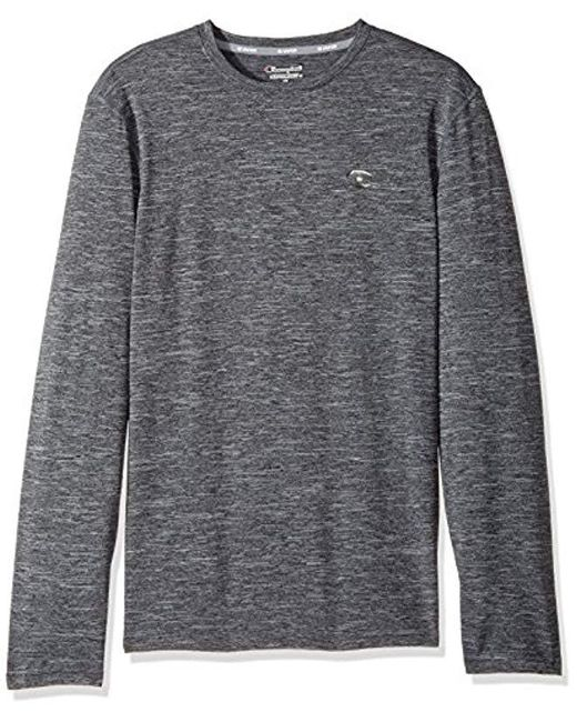 d0ea52c22605 Champion - Gray Double Dry Heather Long Sleeve T-shirt for Men - Lyst ...