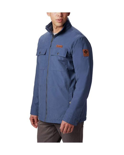 Columbia Blue Wheeler Lodge Casual Jacket for men