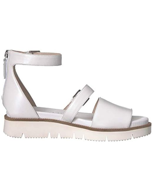 683fbe8f99cbd Women's White Satoria Leather Flat Sandal