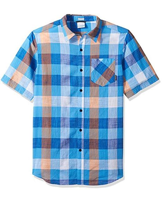 753114e3215 Lyst - Columbia Katchor Ii Big & Tall Short Sleeve Shirt in Blue for Men
