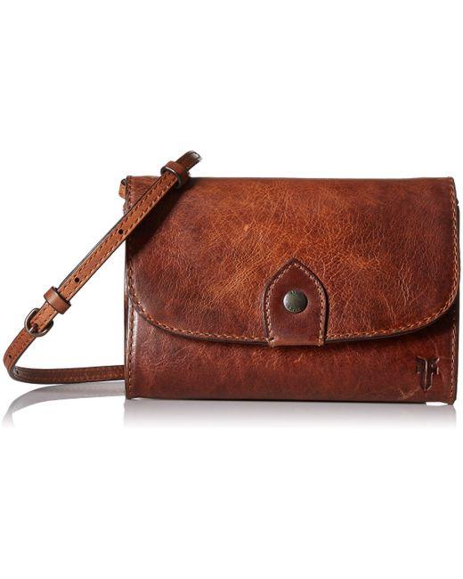 Frye Brown Womens Melissa Wallet Crossbody Cross Body Handbag