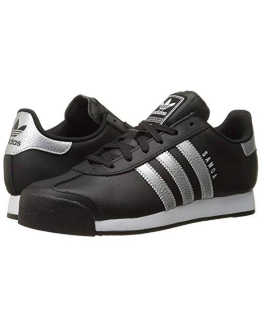 c58187dc adidas Originals Samoa W Sneaker in Black - Save 11% - Lyst