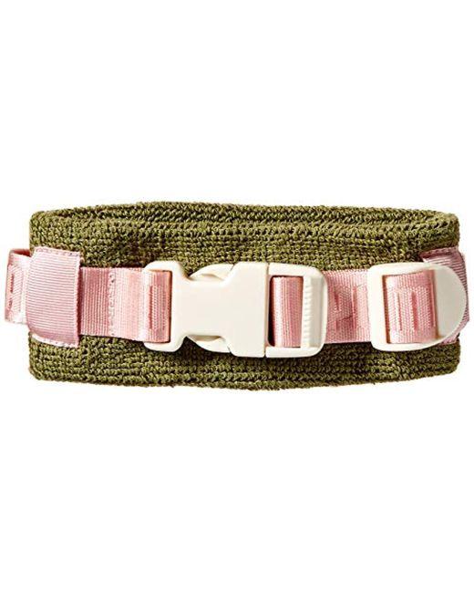 PUMA Green Fenty Buckle Choker, Olive Branch/silver Pink/vanilla Ice, Osfa