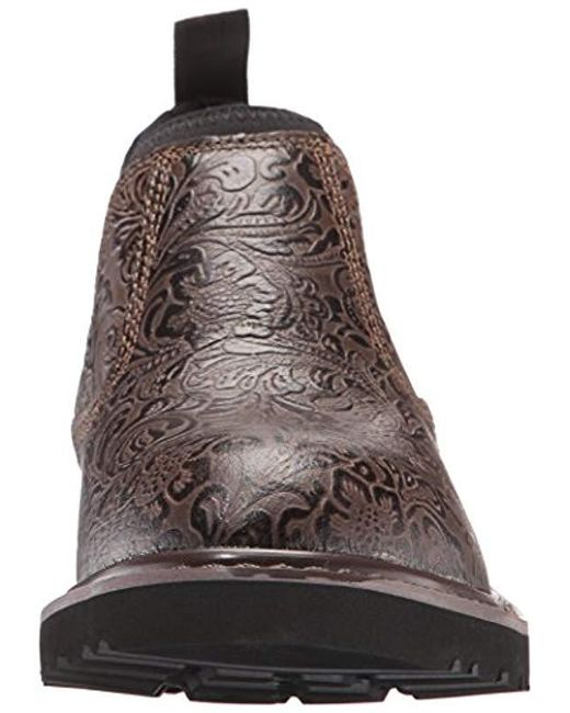 3945fa2a9e6 Women's Brown 4 Inch Embossed Romeo Soft Toe Cws4177 Work Boot