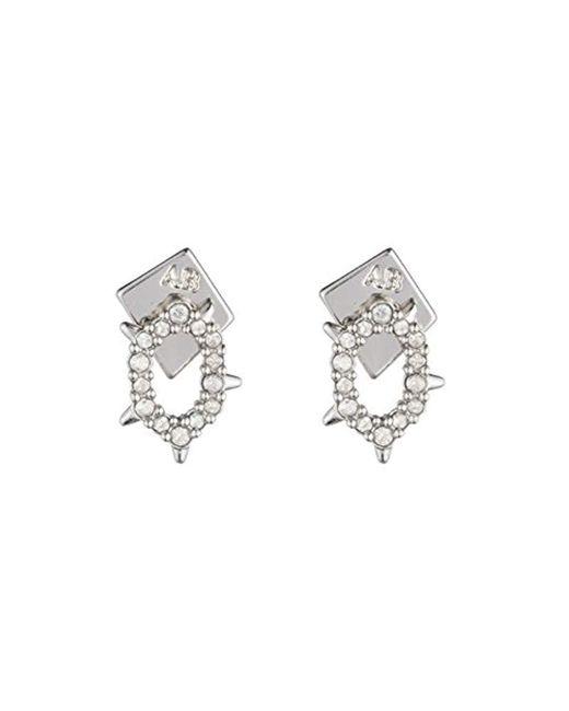 Alexis Bittar - Metallic Crystal Encrusted Spiked Stud Earrings - Lyst