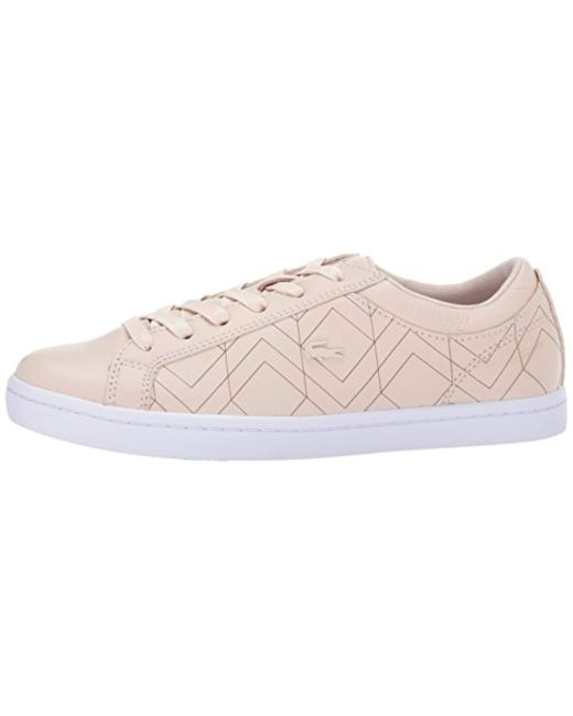 1910c37ac120d ... Lacoste - Pink Straightset Lace 417 1 Sneakers - Lyst ...