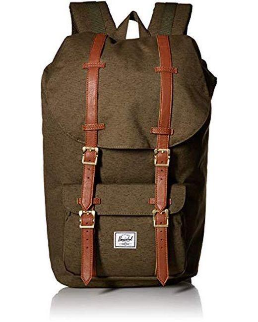 Herschel Supply Co. - Green Little America Backpack for Men - Lyst ... 14b138017c