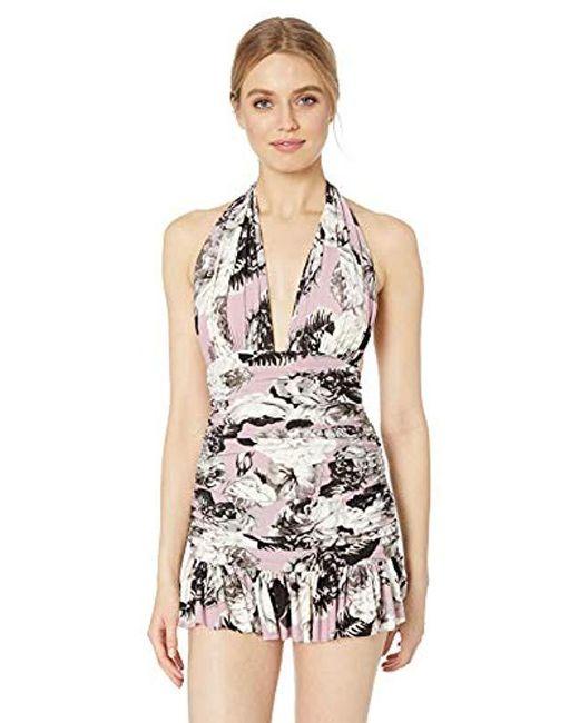 373771df74281b Norma Kamali - Multicolor Ruffle Halter Mio Mini Dress - Lyst ...