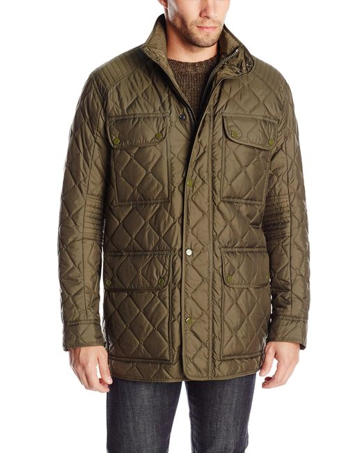Marc New York Green Essex Quilted Four-pocket Coat for men