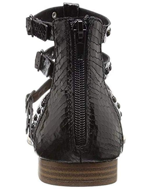 77b027fc5fe Lyst - Kensie Billie Gladiator Sandal in Black - Save 64%
